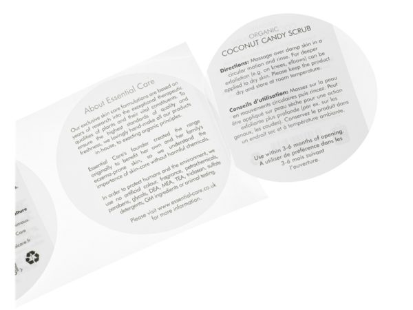 Peel and Reveal Cosmetic Labels