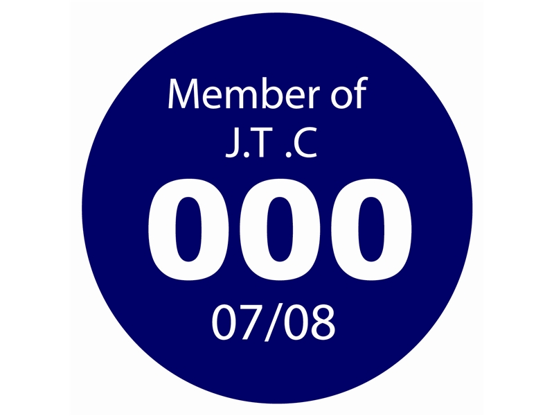 Coded and Numbered Window Stickers