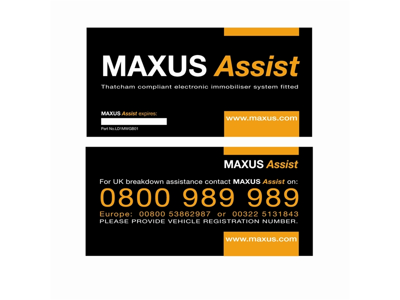 Car Breakdown and Recovery Window Stickers