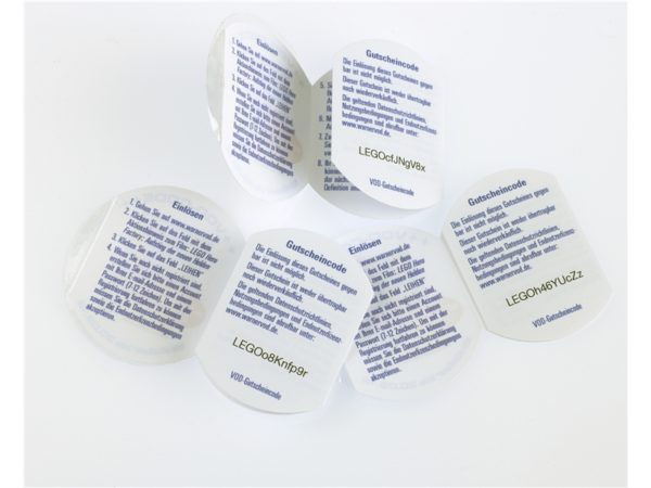 Peel and Reveal Unique Coded Labels