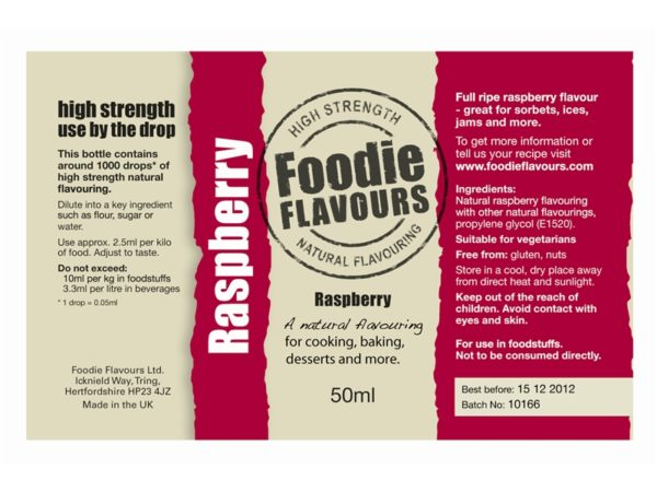 Short Run Food Labels