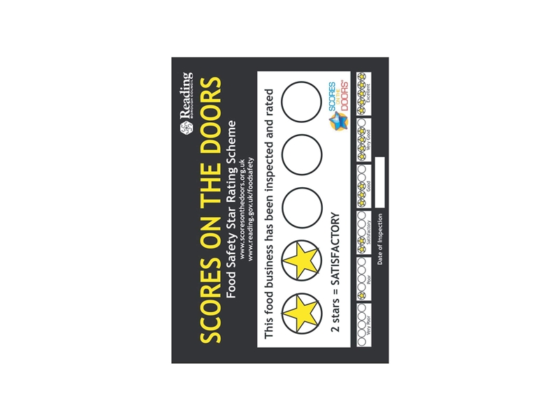 Food Safety Window Stickers