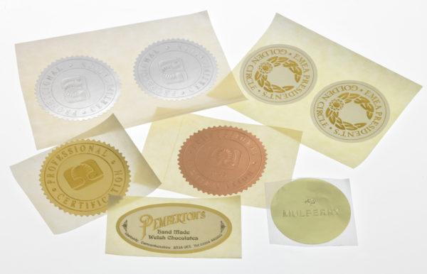 Embossed Foil Labels