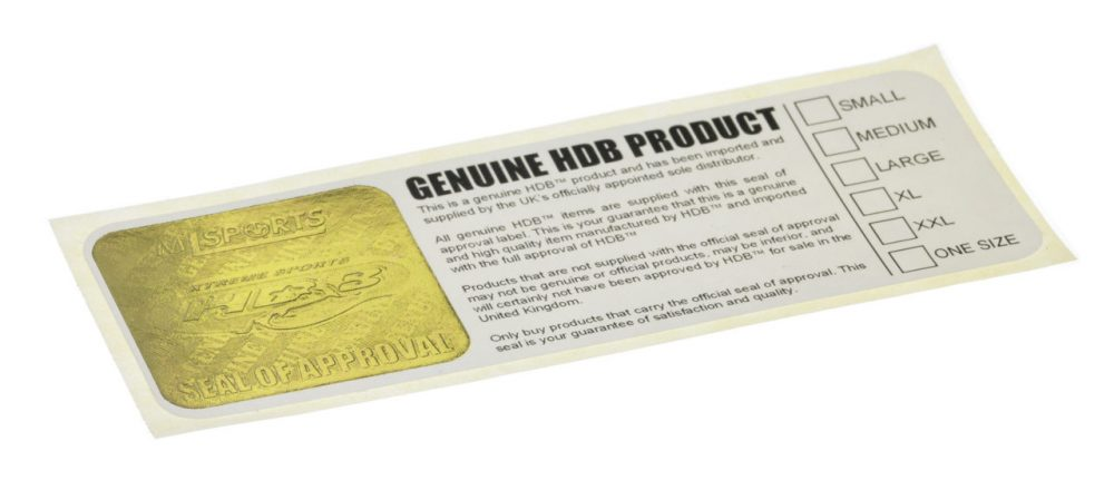Embossed Label With Gold Seal