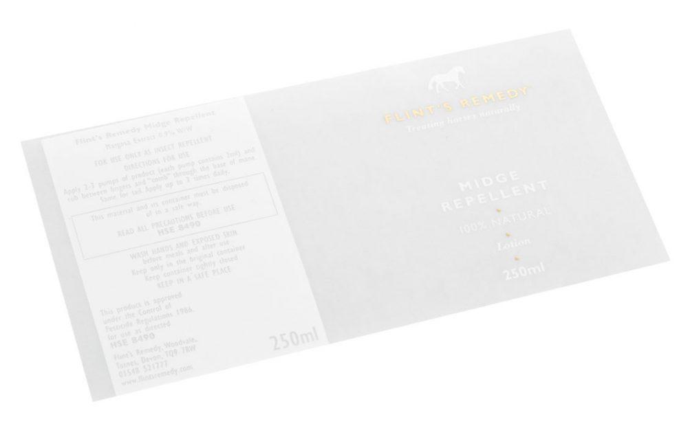 Foiling flint labels