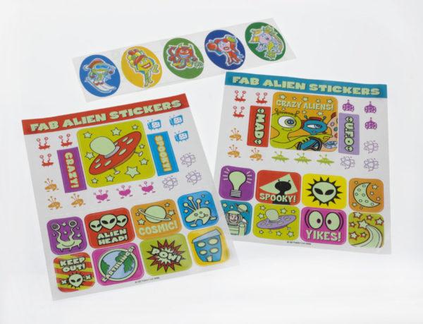 Fab Alien Stickers