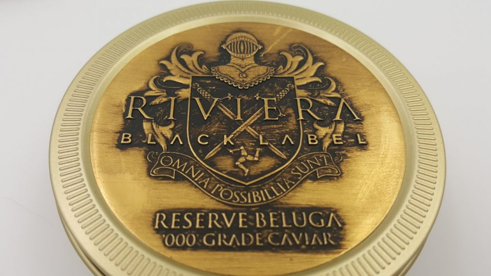 Gold embossed labels