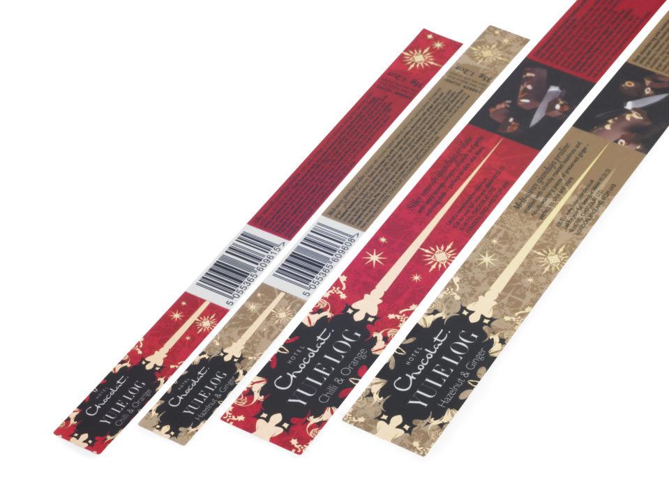 Hotel Choc Gold Foil Labels