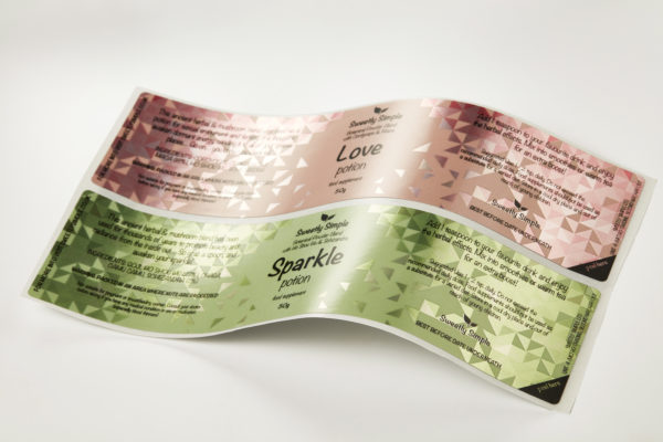 Spot varnished LoveSparkle Label