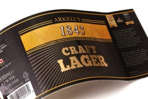 Ale label with foil